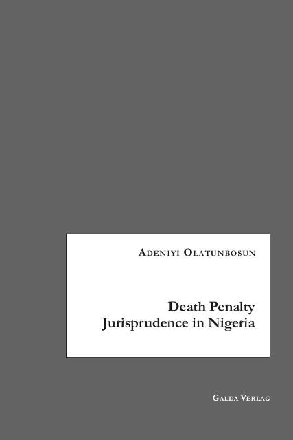 Death Penalty Jurisprudence in Nigeria (PDF)