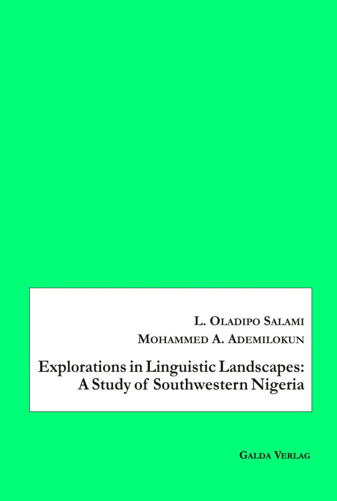 Explorations in Linguistic Landscapes: A Study of Southwestern Nigeria (PDF)