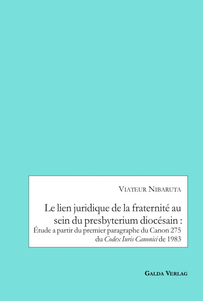 Le lien juridique de la fraternité au sein du presbyterium diocésain : Etude a partir du premier paragraphe du Canon 275 du Codex Iuris Canonici de 1983