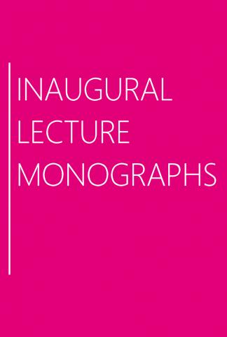 Inaugural Lecture Monographs
